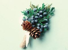 We love the idea of using juniper berries in your wedding flowers – they look especially striking in winter wedding bouquets. Use the bright blue berries in your bridal bouquet and your centrepieces, and for even more juniper detail, why not have a juniper berry flower crown? They also make for perfect alternative buttonholes for the groom's party – we love this one from Which Goose.