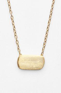 gold murano pendant necklace
