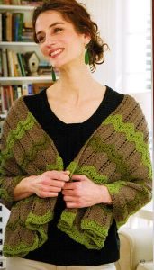 A favorite pattern to knit, ripples are also fun to wear. Karen's soothing shawl takes its colors from nature. It also contains the extra comfort of prayers and good wishes. Giveaways, Shawl, Prayers, Craft Ideas, Knitting, Colors, Nature, Sweaters, Pattern