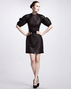 not even with my bonus would i buy this but oh my god, I am in love!Alexander McQueen Glove Leather Dress - Neiman Marcus