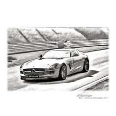 Mercedes-AMG GT #sketch #cardrawing #Pencildrawing by www ...