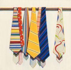 Wayne Thiebaud American, born 1920, Row of Ties