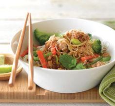 Pork noodle stir-fry | Healthy Food Guide