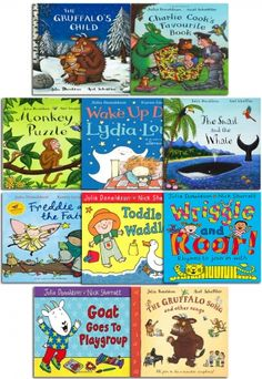 The Julia Donaldson 10 Books Collection  #Gruffalo #MonkeyPuzzle #childrensbook #ToddleWaddle  http://www.snazal.com/the-julia-donaldson-collection-pack-10-books-set-inc-the-gru--DEALMAN-U11-JuliaDonaldson-10BksBKP.html