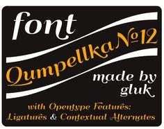 Font QumpellkaNo12 - made by gluk