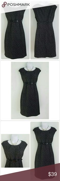 🆕Calvin Klein Cheetah Cat on the Prowl Dress Brand: Calvin Klein  Size: 8 Condition: Excellent preloved, no issues Color: Gray and Black Lined: No  Sleeve Style: Capped  Occasion: Career or Special Occasion  Dress Length: Knee or above  Material: 82% Polyester, 17% Rayon, 1% Spandex  Machine Washable: No  Zipper: Back zippered closure with eyehook  Bust: 18 Waist: 15-1/2 Hips: 20 Length: 36 Special features: Sexy figure flattering belted waist  Please let me know if you have any questions…