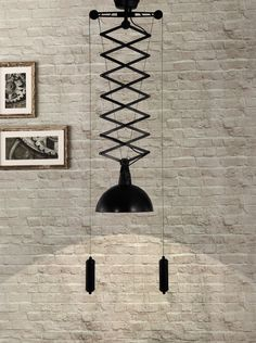 Black Scissor Ceiling Lamp