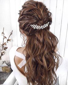 Wedding Hairstyles For Long Hair, Hair Comb Wedding, Wedding Hair Pieces, Bride Hairstyles, Wedding Updo, Wedding Hair Down Styles, Hairstyles For Weddings Bridesmaid, Long Bridal Hair, Loose Wedding Hair