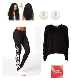 """""""Sporty cutie pie"""" by jtroid ❤ liked on Polyvore featuring adidas Originals, T By Alexander Wang and Henri Bendel"""