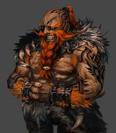 """Dwarven """"monk"""" but better known as a brawler, he goes by Hazered"""