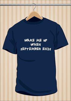 Camiseta Green Day | Wake Me Up When September Ends #GreenDay #TShirt #Tee #Art #Design con envío #gratis sólo en www.UppStudio.com
