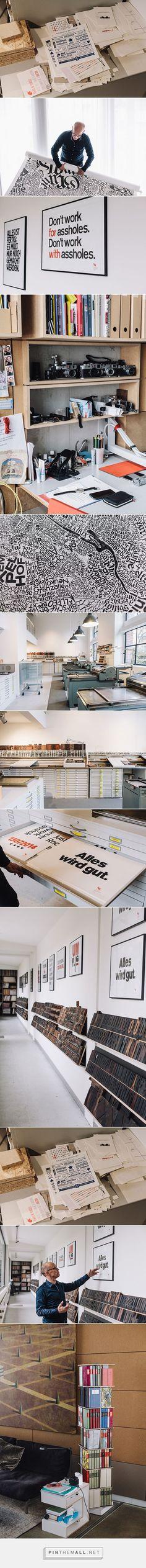 It's Nice That : Looking into Erik Spiekermann's home and studio on Freunde von Freunden - created via http://pinthemall.net