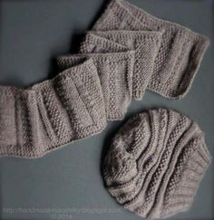 Knitted Slouchy Hat and Scarf - Unisex