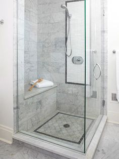 4 Invincible Hacks: Shower Remodel Tile Walk In shower remodel diy renovation.Corner Shower Remodel Before And After. Toilette Design, Douche Design, Marble Showers, Glass Showers, Tiled Showers, Bathroom Inspiration, Bathroom Ideas, Budget Bathroom, Basement Bathroom