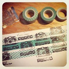 Открытый скрап-клуб: Делем Washi Tape и штампы с их имитацией