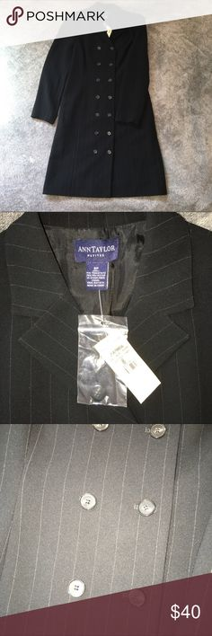 Ann Taylor Extra Long Jacket • Size 8P • Ann Taylor Petites • New With Tags • Perfect Condition • Extra Long Blazer • Includes Spare Button  ⚠️ All items are individually video recorded during packaging and before shipment. This is to prevent fraud & assure you receive the item you ordered in the condition described. Ann Taylor Jackets & Coats