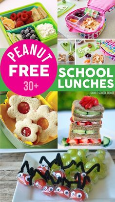 Peanut Free School Lunches - Thank goodness for this find. My peanut butter loving kiddo will be at a peanut free school. Lunch Box Bento, Lunch Snacks, Healthy Snacks, Lunch Boxes, Kids Lunch For School, School Snacks, Lunch Ideas Kids At Home, Peanut Free Foods, Boite A Lunch