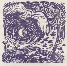 Beautiful Linoprint by Celia Hart