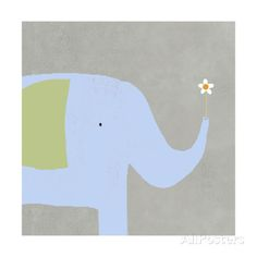 Elephant with Flower Stampe su AllPosters.it