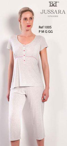 Pijama feminino Bordados Jussara 1005