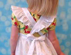 Vintage Inspired Cross Back Pinafore Tutorial for Storybook Pinafore Sewing Pattern by Tie Dye Diva