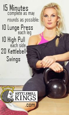 Kettlebell AMRAP Workout | Posted By: NewHowtoLoseBellyFat.com