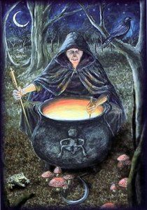 Magick Wicca Witch Witchcraft: with cauldron. Celtic Goddess, Celtic Mythology, Moon Goddess, Hecate Goddess, Pagan Art, Photo Chat, Triple Goddess, Sacred Feminine, Mystique