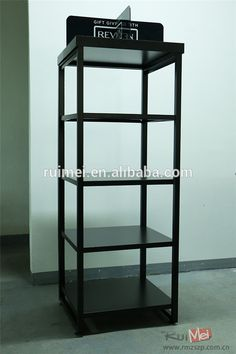 Cosmetic Display Stand Five Layers Metal Rack For Supermarket Nail Shelf