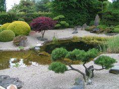 Japanischer Garten mit schönem Design