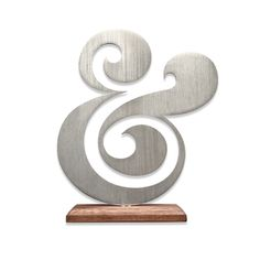 PREMIUM ALUMINUM AMPERSAND - love everything on this site and they're giving back when you buy things... double win