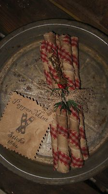 Primitive Christmas Peppermint Sticks Peppermint Sticks 1804 | eBay