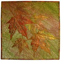 I am working on a leaf series.  love the stitch work on this one.