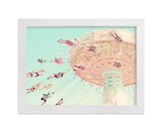 """""""Sky Coasters"""" - Art Print by Stephanie Sherman in beautiful frame options and a variety of sizes."""