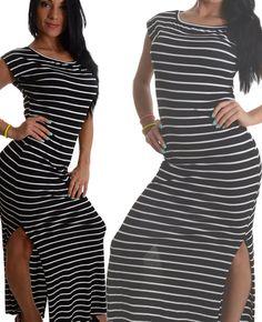 Vestito lungo nero e bianco