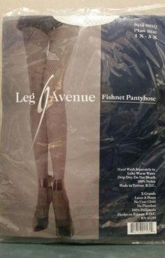 b25fb7ab4cf NEW SZ 1X - 3X PLUS SIZE LEG AVENUE WHITE FISHNET PANTYHOSE 9001Q NIP   fashion
