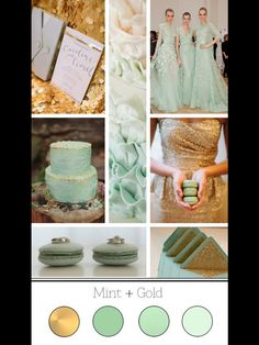 Mint & Gold Wedding and add a hint of pink