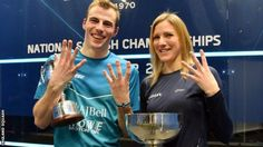 February 13 2017 - Laura Massaro and Nick Matthew taste success at the national squash titles in Manchester