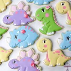 I took a little break from Christmas cookies for these cuties. For a dino loving birthday girl.🦕💗 Dinosaur cutters by… Dinasour Birthday, Dinosaur First Birthday, Birthday Cake Girls, Girl First Birthday, First Birthday Parties, Dinosaur Party, Birthday Ideas, Dinosaur Cookies, Doodles