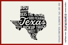 Texas State design - SVG DXF EPS PNG - Cricut & Silhouette - clean cutting files By CleanCutCreative