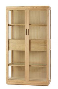 Vitrina de madera de Olmo Serie 200 Medida de 100L X 40F X 180h  Disponible en otros acabados.