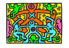 Keith Haring - Untitled (1985) - jetzt bestellen bei kunst-fuer-alle.de