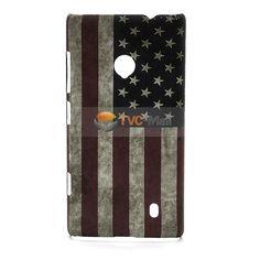 Retro USA American Flag Hard Plastic Case for Nokia Lumia 520