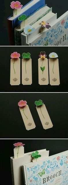 [Creative appreciation] flowers bookmarks, so that your book out of the flowers. Clever design is convenient to collect and appropriate use. Hearted DIYer may wish to use this design to produce exclusive bookmarks.