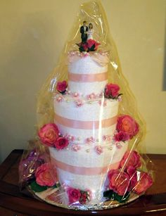 How To Make A Wedding Towel Cake From Thinkwedding