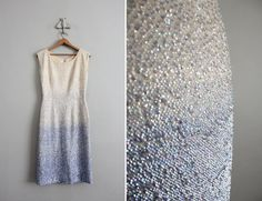 This 1960s ombré dress would be amazing for a wedding. $300