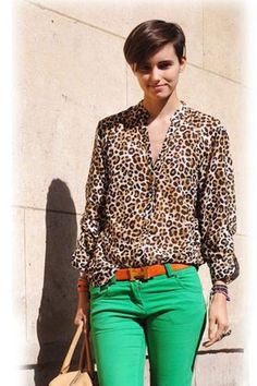 a062c9031dae Love the contrast but it still looks great together Easy Matching Leopard  Print Long Sleeve Blouse
