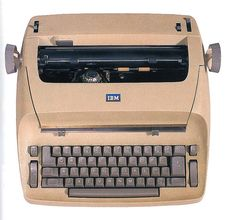 """Michelle's """"modern"""" Selectric typewriter/word processor. (Anyone remember these?)"""