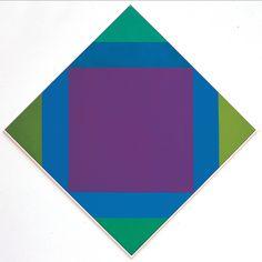 Max Bill Transcoloration aus braun, 1972/75, olio su tela, cm 80x80