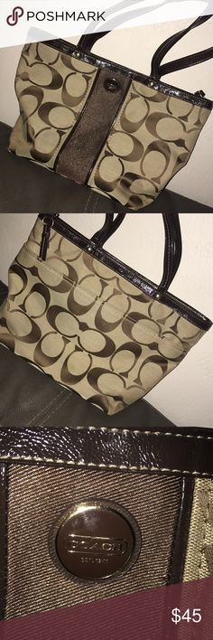 Coach brown tote purse Barely used. Like new. Brown Coach tote purse. Coach Bags Totes