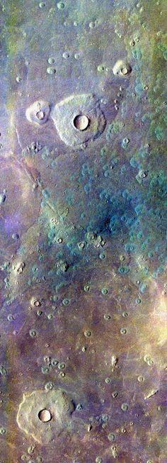 Edited Mars Odyssey image of pedestal craters in Acidaliia Planitia. Stuart Rankin
